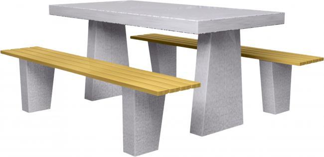 köztéri asztal szett